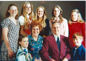 The Horman Family (circa 1970s) -- Shelley is on the far right in the red sweater.